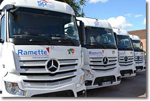 Groupe Ramette : camion benne pour le transport de marchandises