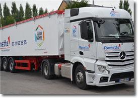 Transport Ramette : transport de marchandises en camion benne
